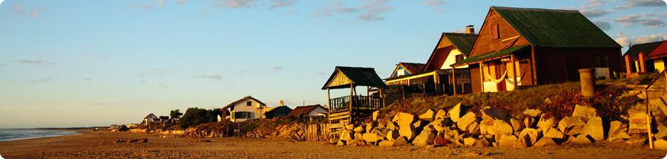 Strandhäuser, das Meer direkt vor der Haustür ...